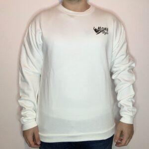 Felpa Aloha Style Black Logo Uomo Bianco 1