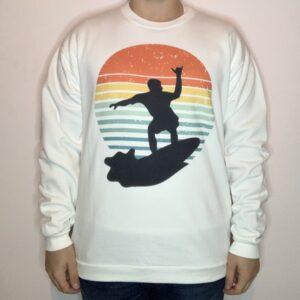 Felpa Surfer on Sunset Uomo Bianco 1