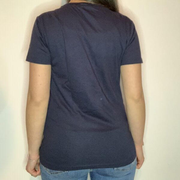 T-shirt Please Love Youreself White Donna Blu Navy 2