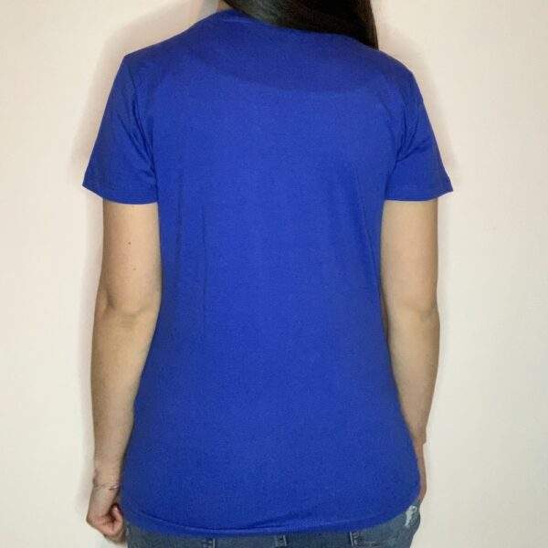 T-shirt Please Love Youreself White Donna Blu Royal 2