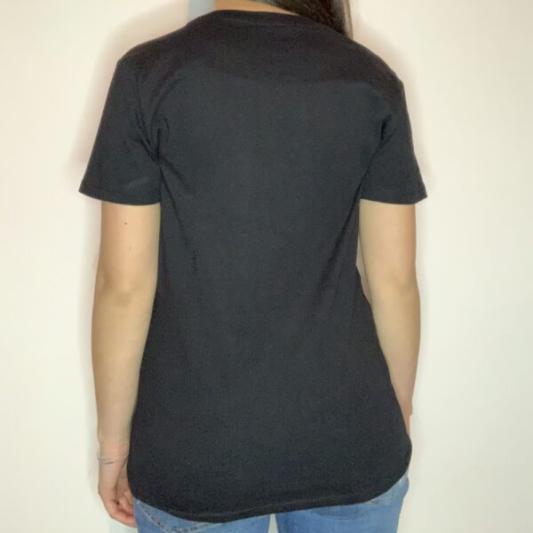 T-shirt Please Love Youreself White Donna Nero 2