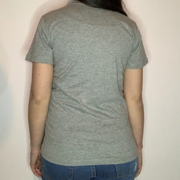 T-shirt Skeleton Skater Donna Grigio Melange 2
