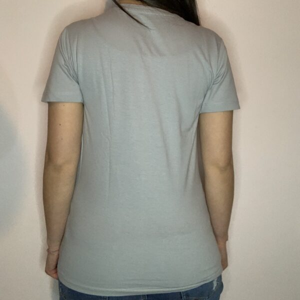 T-shirt Skeleton Skater Donna Grigio Puro 2