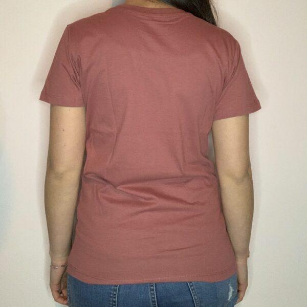 T-shirt Skeleton Skater Donna Rosa Antico 2